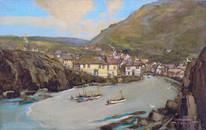 Early 20th century Port Isaac Cornwall Landscape Godwin BENNETT (1888-1950)