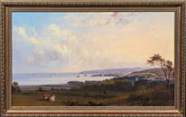 19th Century English School Cornwall View Of Penzance Port Landscape