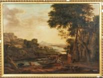 Huge 18th Century Italian Old Master Figures Woodland River Landscape ZUCCARELLI