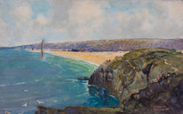 Early 20th century Droskyn Point Perranporth Cornwall Godwin BENNETT (1888-1950)