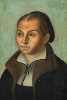 16th Century German Portrait The Wife Of Martin Luther Lucas Cranach The Elder