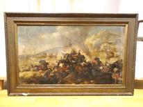 Huge Fine 17th Century Italian Wars Old Master Battle Scene Andrea DI LIONE