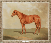 """Large 20th Century British Horse Portrait """"Mackesons"""" Falls Of Clyde"""