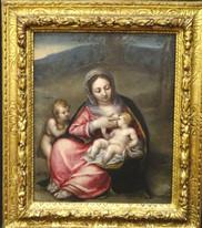 16th Century Italian Old Master Madonna Infant Christ St John LEONARDO DA VINCI