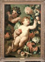 Large Italian Old Master Putti Fruit & Flowers Allegory Of Plenty CARLO MARATTA