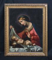 Huge 17th 18th Italian School Old Master Madonna & Baby CORREGGIO