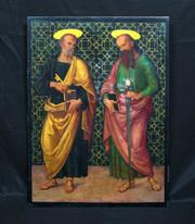 15th Century Italian Renaissance Style Saint Peter & Paul  Giannicola di Paolo