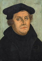 16th Century German Portrait Of Martin Luther Old Master Lucas Cranach The Elder