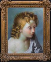 17th Century Italian Old master Portrait Of A Boy Benedetto Luti (1644-1724)
