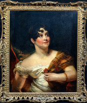 Large 19th Century English Portrait Of A Young Lady Thomas LAWRENCE (1769-1830)