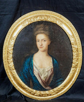Large 17th Century Portrait Mrs Sanderson Christian Thursby (1617-1652) KNELLER