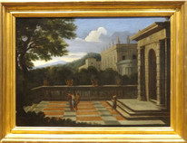 17th French Italian Arcadian Architectural Landscape Antique GASPARD DUGHET