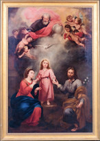 17th Century Spanish Old Master The Holy Trinity Of Earth & Heaven MURILLO