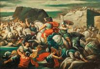 17th Century French School Old Master Battle Scene Siege Of City