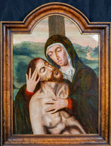 Fine Large 16th Century Netherlandish Old Master Pieta Virgin Mother & Christ