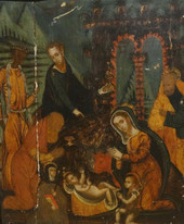 16th Century Veneto-Cretan School Adoration Of The Magi Greek Antique Painting