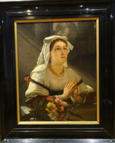 19th Century Belgian Portrait Of A Nun by Philippe-Jacques van Bree (1786-1871)