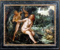 Large 16th Century Flemish Ada & Eve Joachim Anthonisz Wtewael (1566-1638)