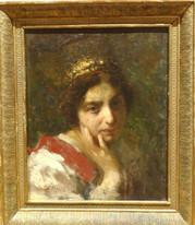 19th Century American Portrait Of The Countess De La Rocca by Ana De CARRIE