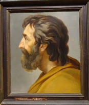Large 18th Century Italian Old Master Head of A Saint Philosopher Rococo School