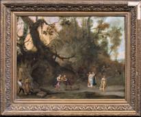 Large 17th Century Flemish Old Master Rebecca & Eliezer Andries SNELLINCK