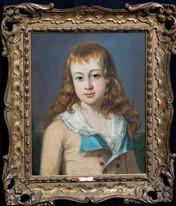 Fine 18th Century German School Portrait Of A Boy Antique Oil Painting
