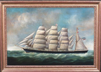"Large 19th Century Dutch Merchant Ship Study ""Eleanor Margaret"" by Joseph Witham"