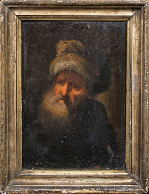 17th Century Dutch Old Master Portrait Of A Jewish Scholar Scribe Rembrandt