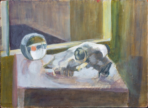 20th Century Still Life Skull And Glass Paperweight Francis BACON (1909-1992)