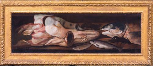 Large 17th Century Flemish Kitchen Still Life Of Fish Squid & Lobster DE PUTTER