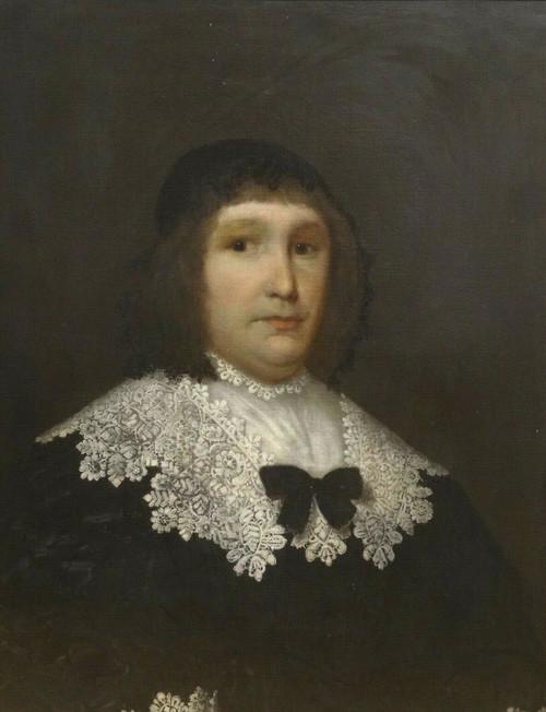 Large 17th Century Dutch Old Master Portrait Of A Lady - Cornelis Jonson