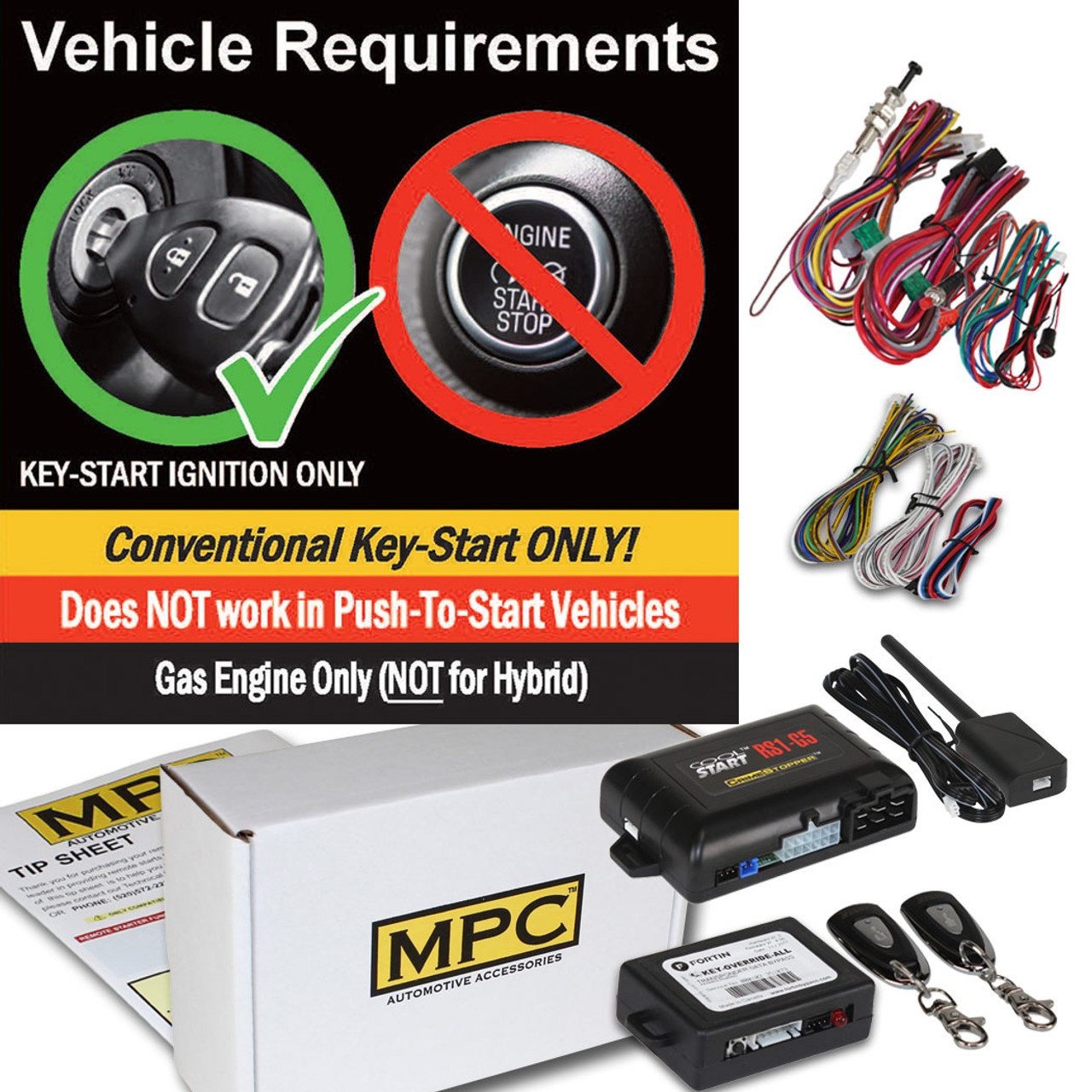 MPC Toyota Yaris 2012-2014 Complete 1-Button Remote Start Kit