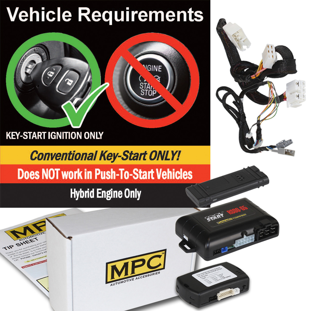 MPC Honda Fit 2015-2020 Smartphone Or OEM Activated Remote Start - Key-to-Start