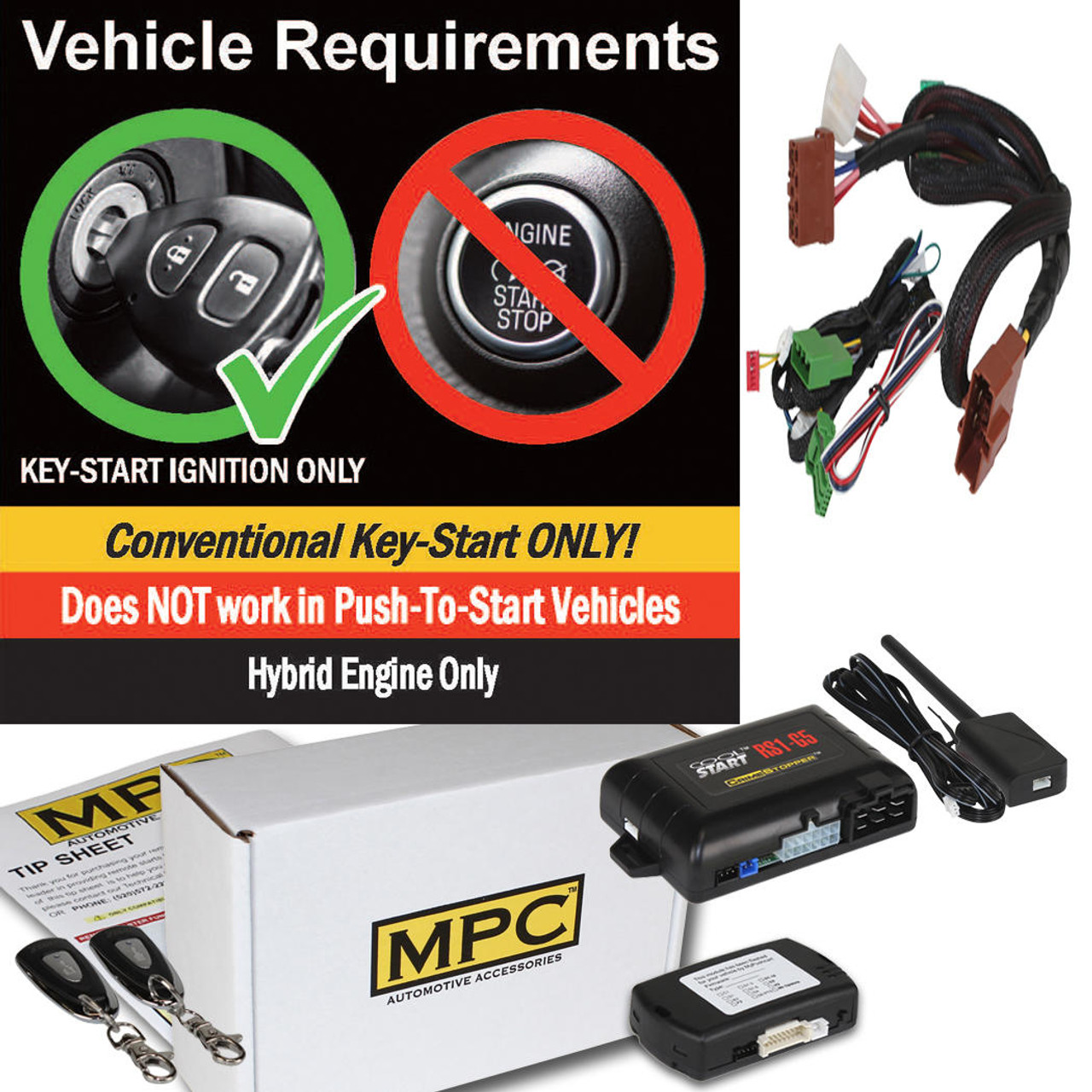 MPC Complete 1-Button Remote Start Kit For 2010-2014 Honda Insight - Hybrid