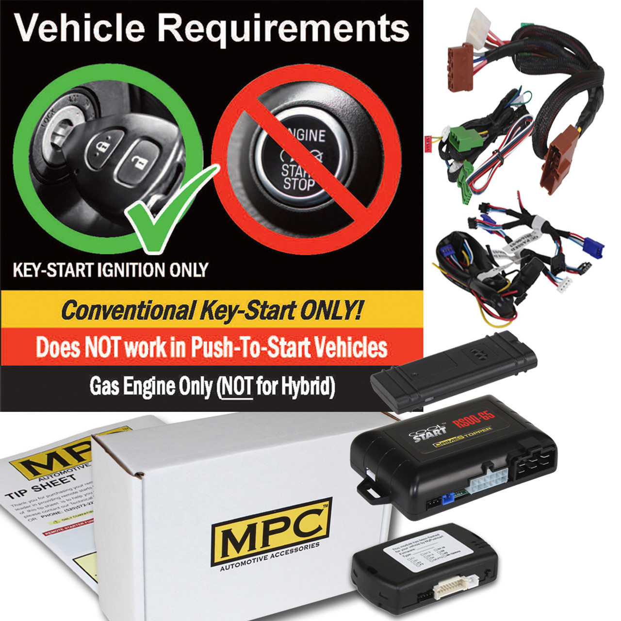 MPC Smartphone/OEM Remote Activated Remote Start Kit For 2007-2010 Acura RDX