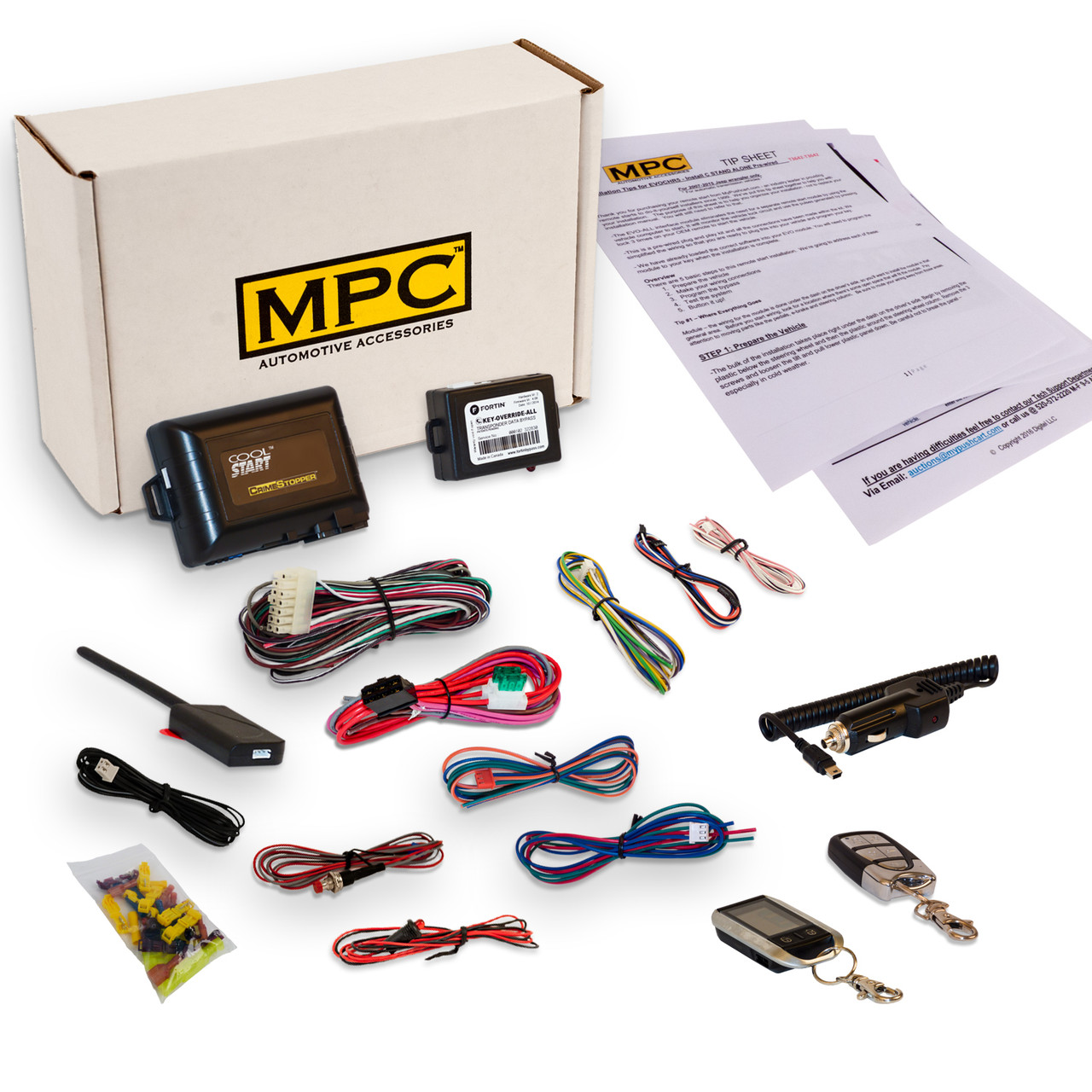 MPC Mercury Sable 1996-1999 Complete 2 Way LCD Remote Start - Keyless Entry Kit