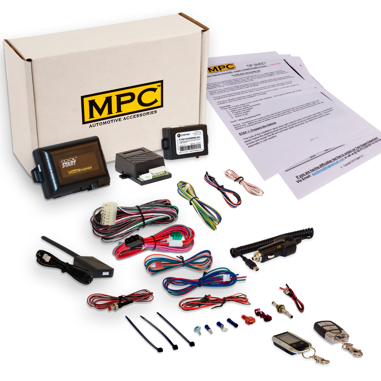 MPC Ford F-350 2007 2 Way LCD Remote Start With Keyless Entry Kit