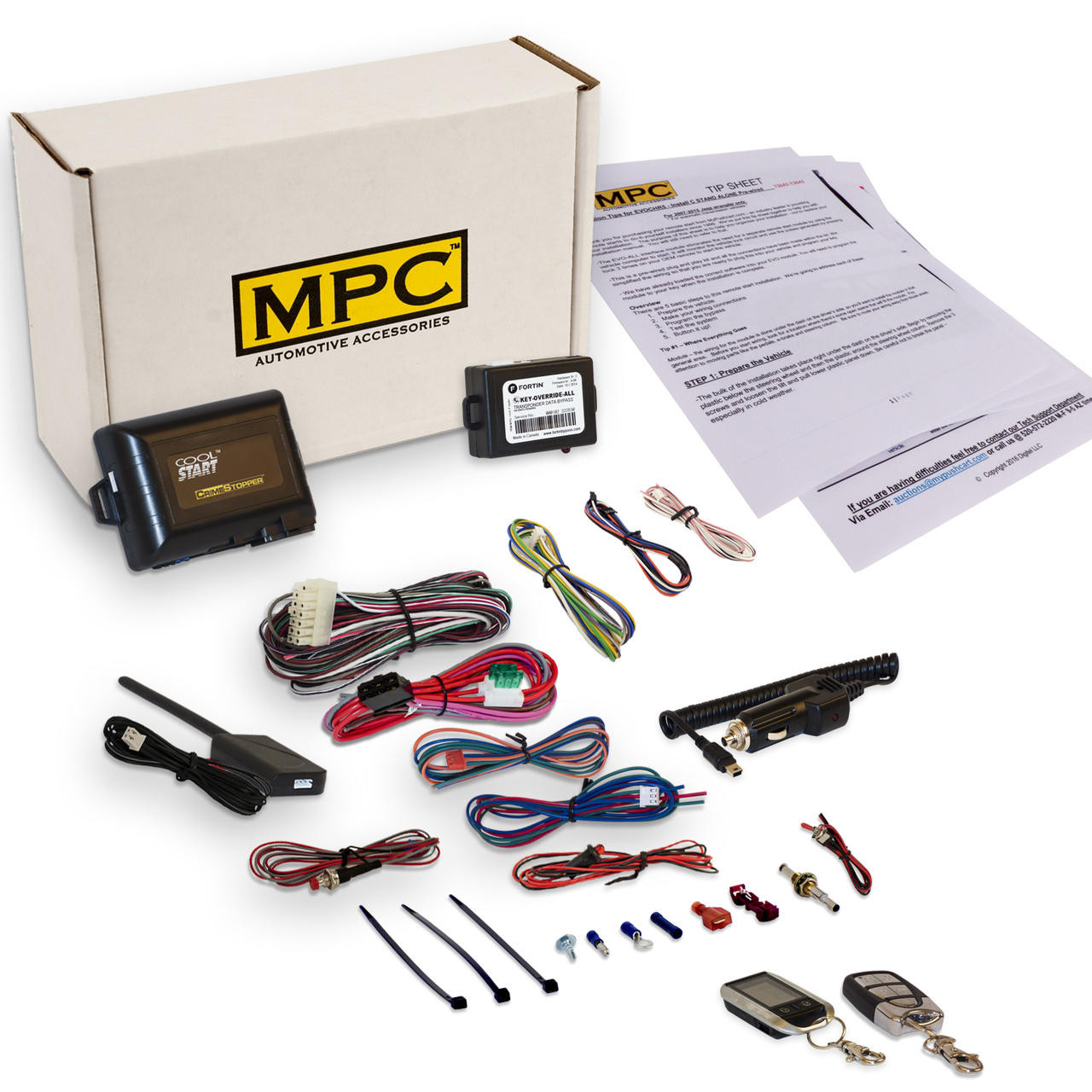 MPC 2 Way LCD Remote Start W/Keyless Entry Kit For 2007 Lincoln Navigator
