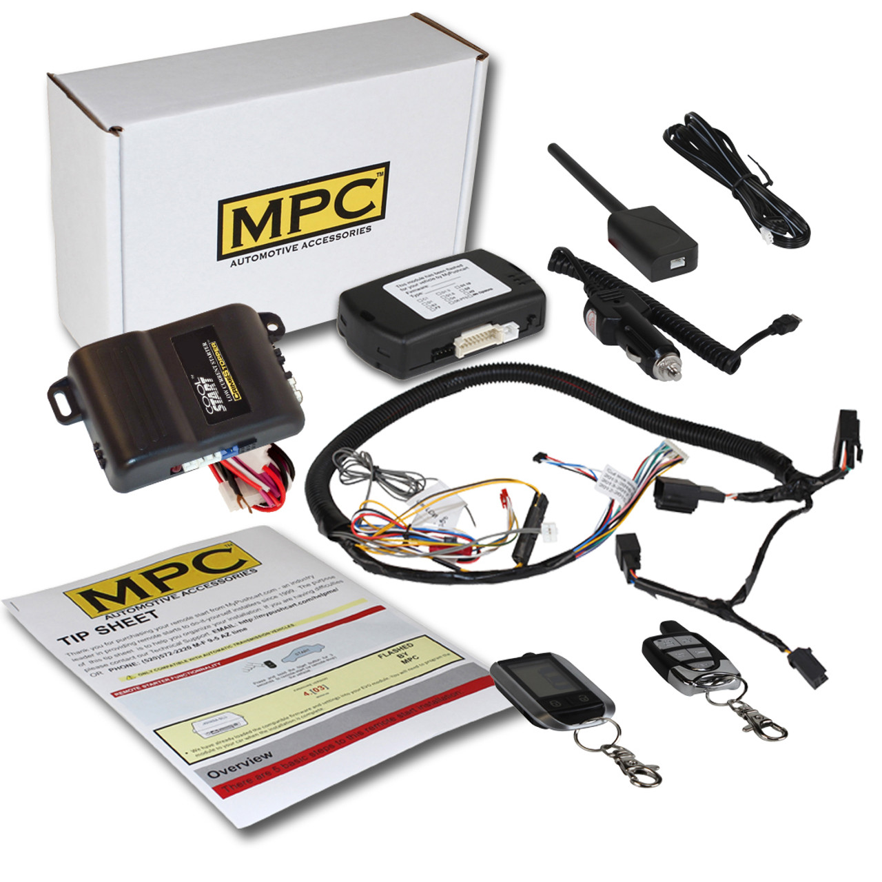 MPC Ford F-350 2011-2016 Prewired 5-Button LCD Remote Start w/Keyless Entry