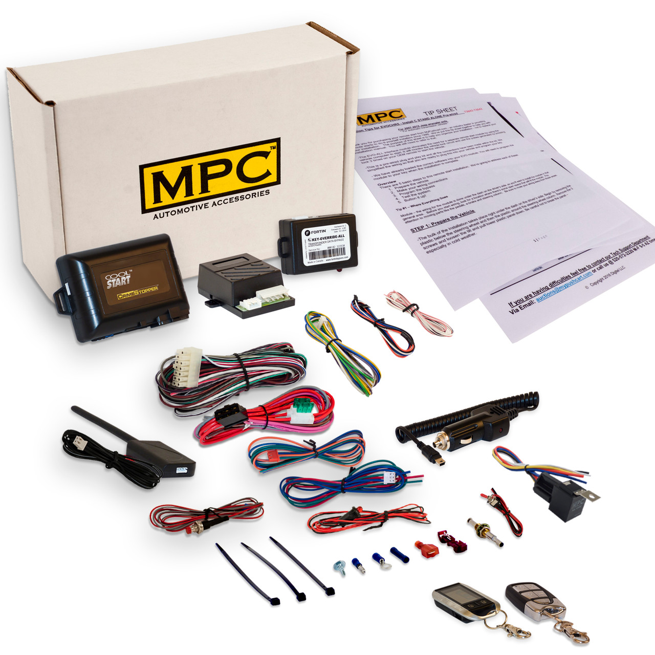 MPC Mazda Tribute 2001-2007 - 2-Way LCD Remote Start Kit With Keyless Entry
