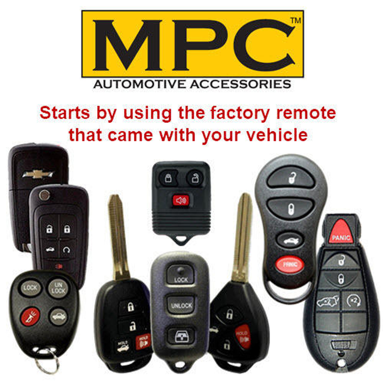 MPC OEM Activated Remote Starter For 2008-2010 Scion xB Dot-Key - T-Harness