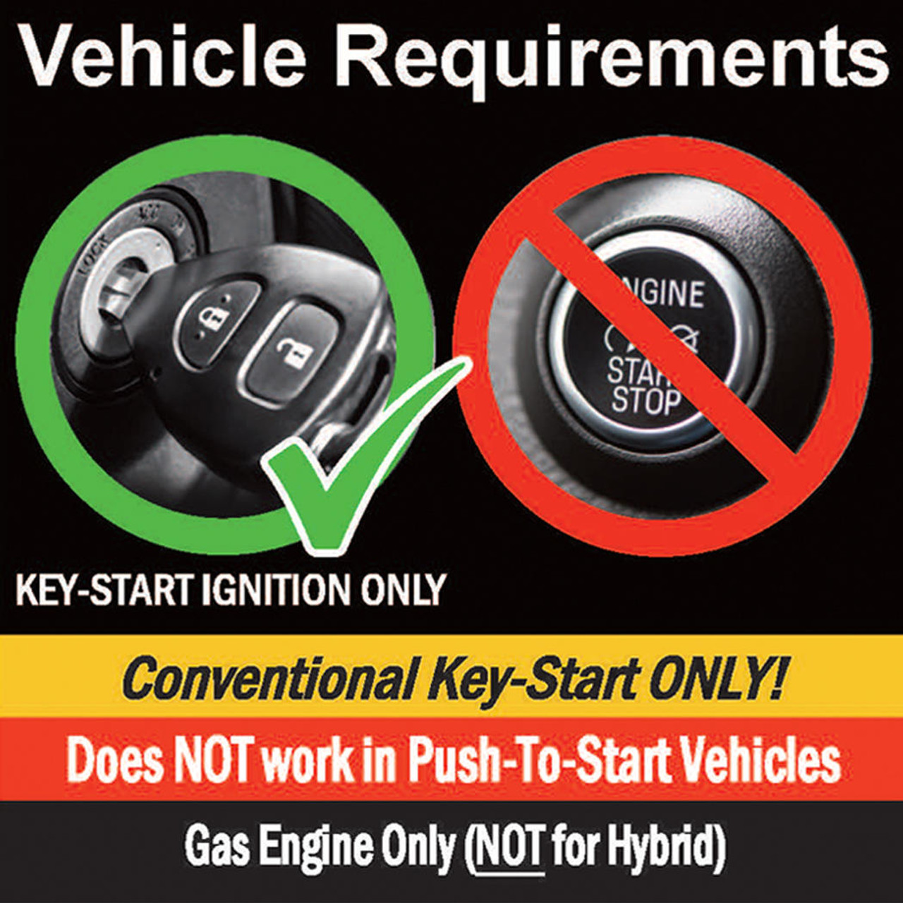MPC Plug-n-Play 1-Button Remote Start For 2007-2018 Jeep Wrangler - Key-to-Start