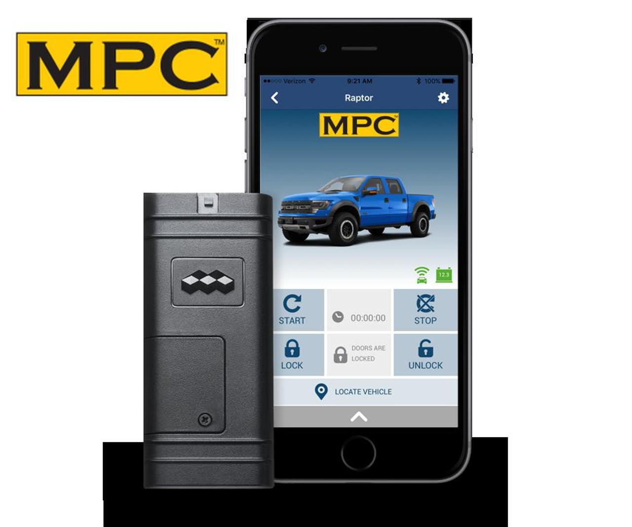 MPC Smartphone or OEM Remote Activated Start For 2010-2012 Ford Fusion - w/T-Harness