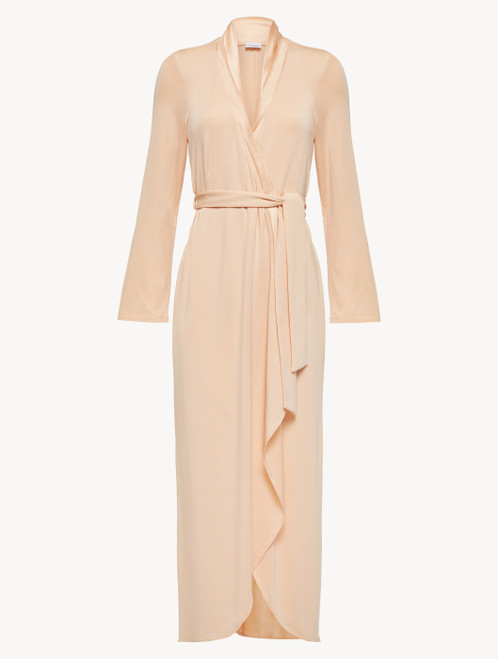 Robe in pink modal jersey