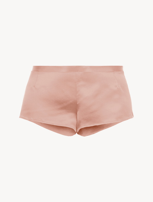Powder pink silk sleep shorts