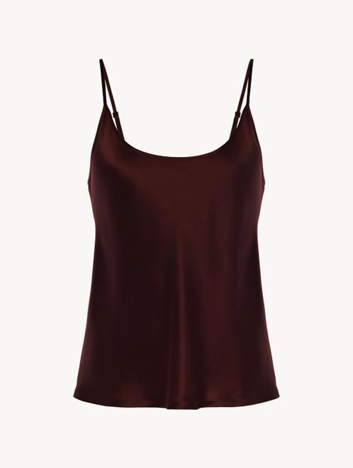 Bordeaux silk camisole
