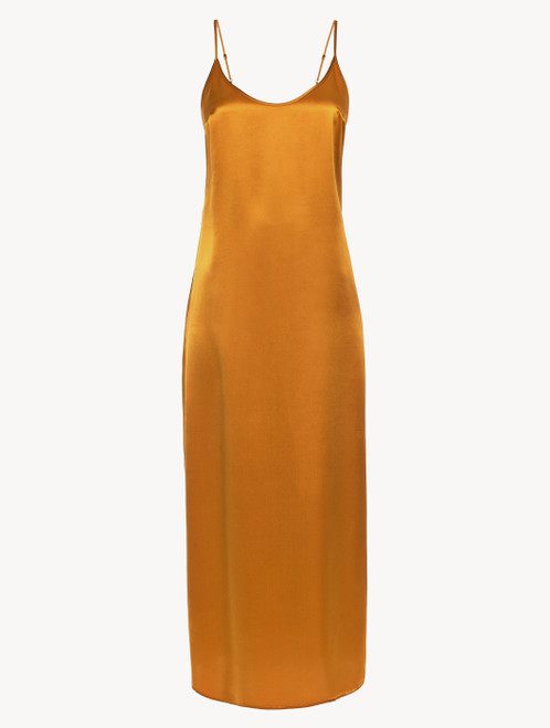 Topaz yellow silk long slip