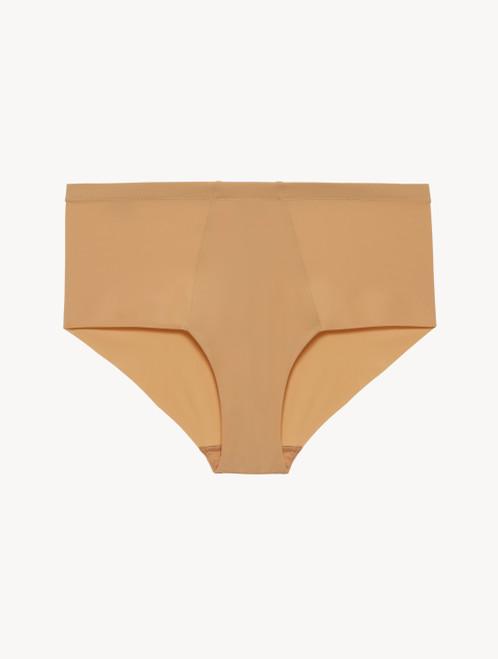 High-waist laser-cut brief in nude