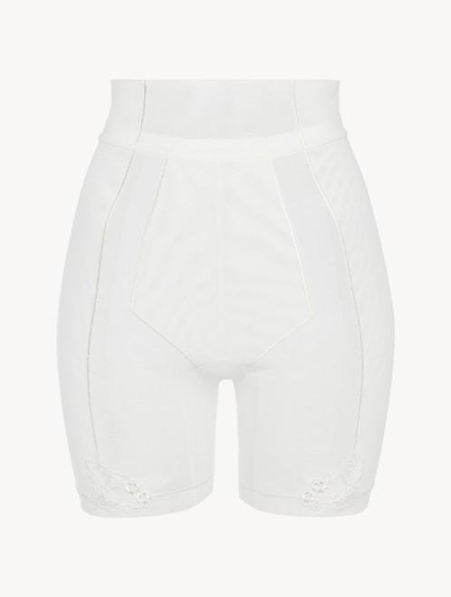 Shorts in off-white stretch tulle