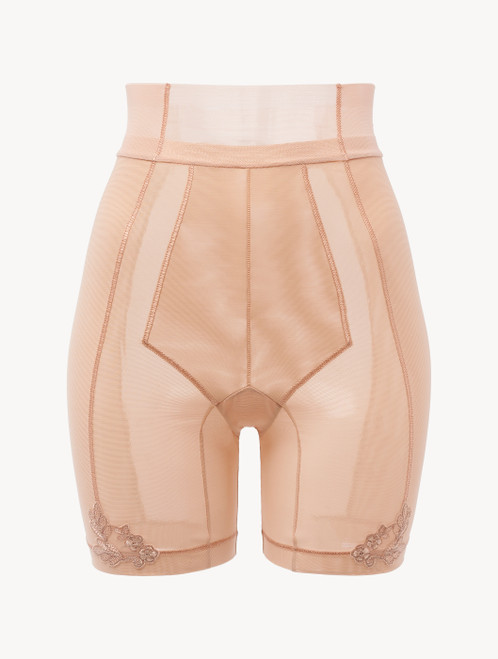 Shorts in sand stretch tulle